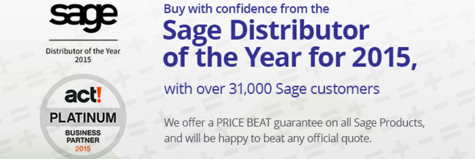 Sage Distributor of the Year for 2014